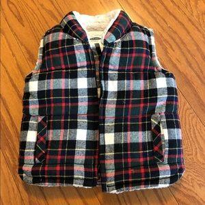 Old Navy plaid vest